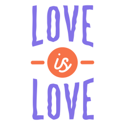 Love is love stripe circle sticker