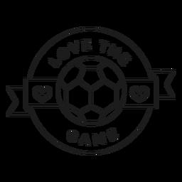 Love the game ball heart badge stroke