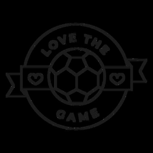 Me encanta el juego bola corazón insignia trazo Transparent PNG