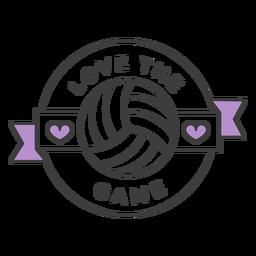 Etiqueta engomada coloreada corazón de la bola del juego amor