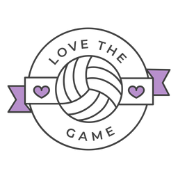 Love the game ball heart colored badge sticker