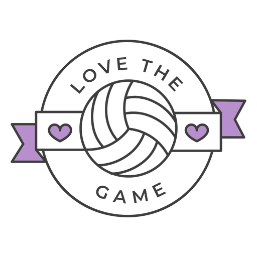 Love the game ball heart colored badge sticker Transparent PNG