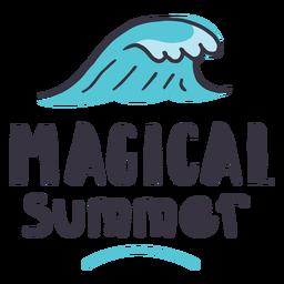 Etiqueta engomada mágica de la insignia de la onda del verano
