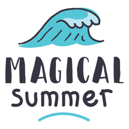 Magical summer wave badge sticker