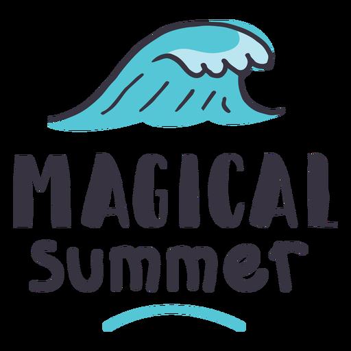 Magical summer wave badge sticker Transparent PNG