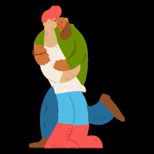 Hombre pareja par pulsera gay plana Transparent PNG