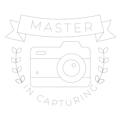 Master in capturing camera lens objective branch badge line Transparent PNG