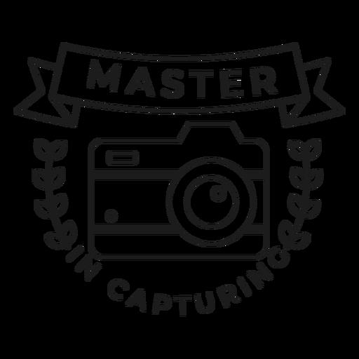 Master in capturing camera lens objective branch badge stroke Transparent PNG