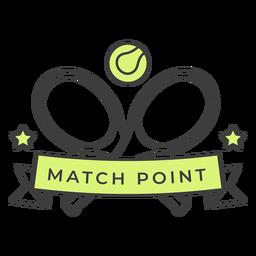Etiqueta engomada coloreada estrella de la bola de la raqueta del punto del partido
