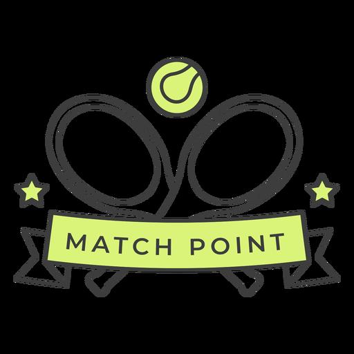 Etiqueta engomada coloreada de la estrella de la bola de la raqueta del punto del partido