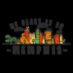 Autocolante de skyline de Memphis