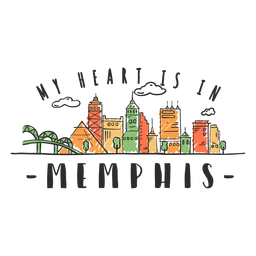 Memphis-Skylineaufkleber