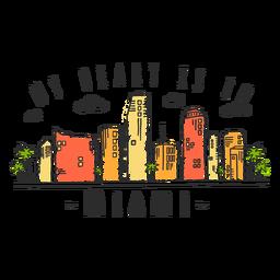Miami skyline sticker