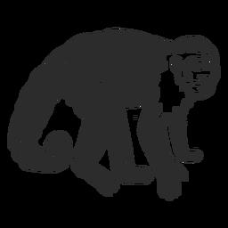 Doodle de cauda de focinho de perna de macaco