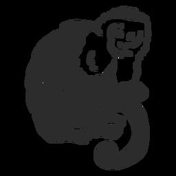 Rabisco de cauda de perna de macaco doodle