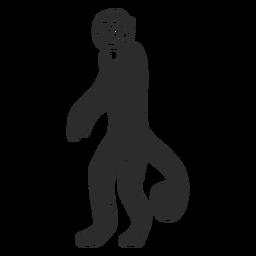 Affenmaulkorb Schwanz Bein Gekritzel