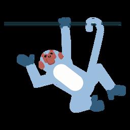Affenmaulkorb Schwanz Bein Liane abgerundet flach