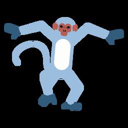Monkey muzzle tail leg rounded flat