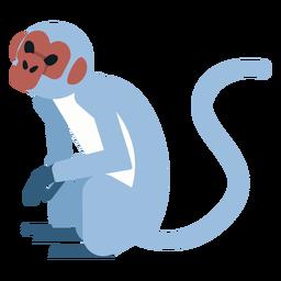 Pé de focinho de macaco sentado a perna arredondada plana