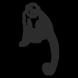 Doodle de perna de focinho de rabo de macaco