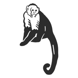 Monkey tail muzzle leg doodle