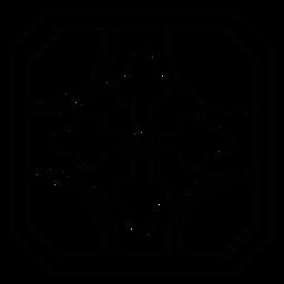 Flecha de mosaico línea de marco