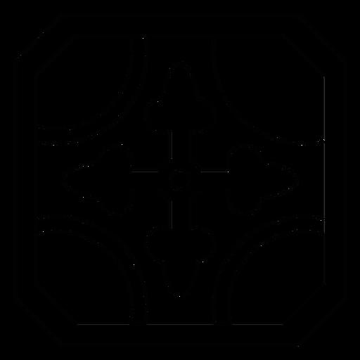 Linha de moldura de seta de mosaico Transparent PNG
