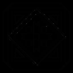 Mosaic arrow frame rhomb square line
