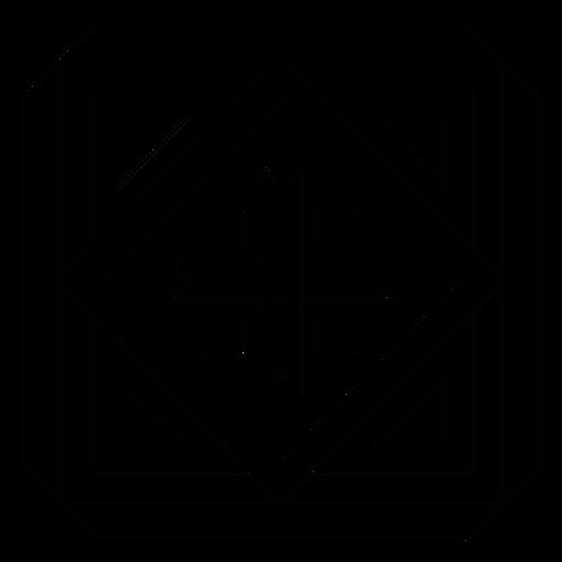 Mosaic arrow frame rhomb square line Transparent PNG