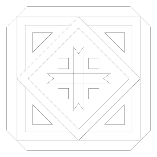 Mosaic arrow rhomb square line Transparent PNG