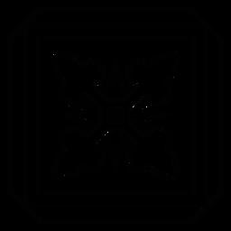 Mosaic arrow rhomb square frame line