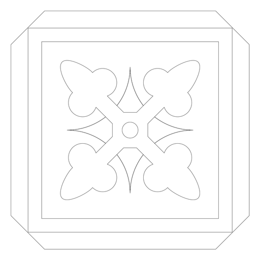 Linha de moldura quadrada de rhomb de seta de mosaico Transparent PNG