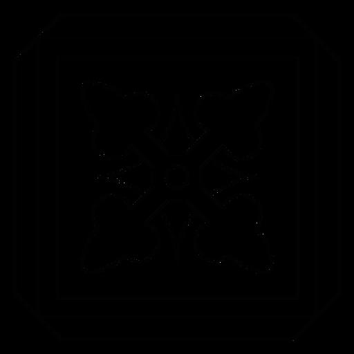 Mosaic arrow rhomb square frame line Transparent PNG