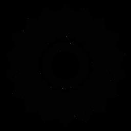 Silhueta detalhada da pétala da flor do círculo do mosaico