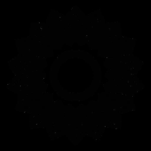 Mosaic circle flower petal detailed silhouette Transparent PNG