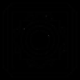 Mosaico círculo flor cuadrada línea de marco