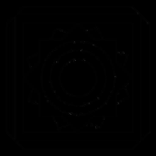 Linha de moldura quadrada de flor de círculo de mosaico Transparent PNG