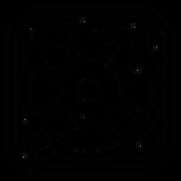 Linha de flor de pétala de quadro de círculo de mosaico