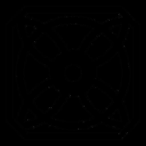 Mosaico círculo marco pétalo flor línea Transparent PNG