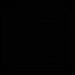 Silhueta detalhada quadrada do quadro do círculo do mosaico
