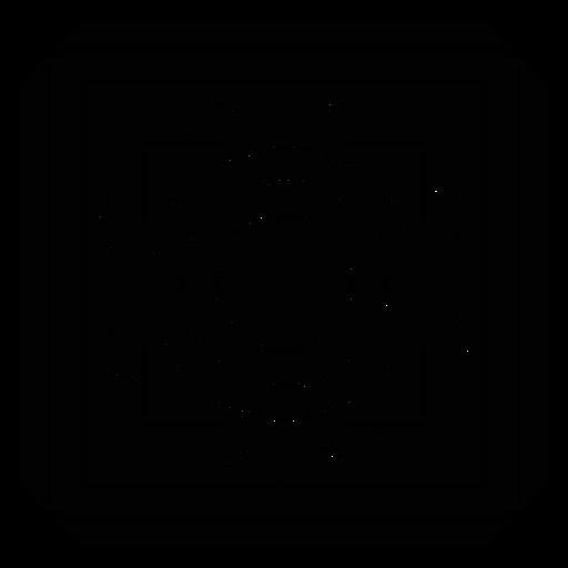 Silhueta detalhada quadrada do quadro do círculo do mosaico Transparent PNG