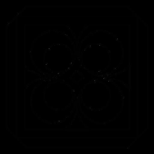 Linha de moldura quadrada rhomb de círculo de mosaico Transparent PNG