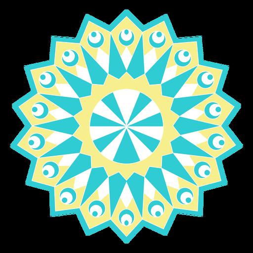 Silhueta detalhada figura do círculo do girassol do mosaico Transparent PNG