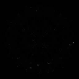 Traçado da figura do girassol em círculo do mosaico