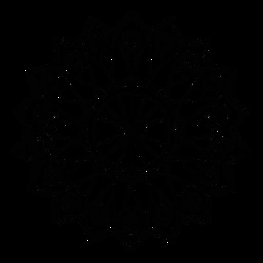 Traçado de figura de girassol de círculo de mosaico Transparent PNG