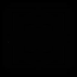 Círculo flor círculo quadrado rhomb frame silhueta detalhada