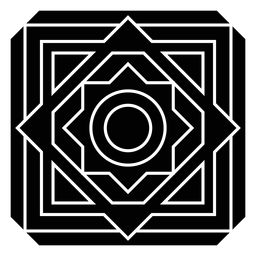 Mosaico flor círculo cuadrado rombo marco detallado silueta