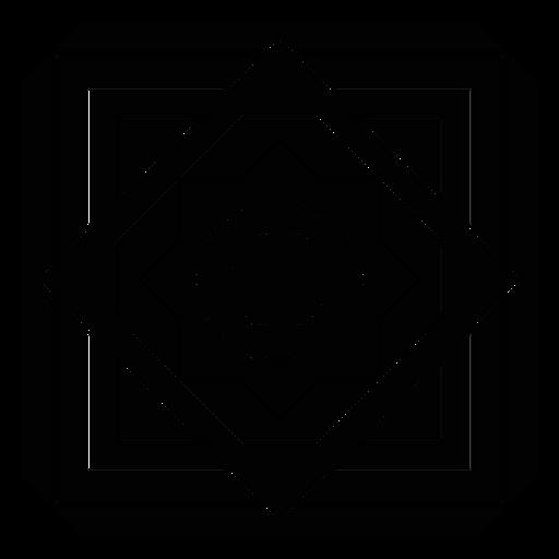 Círculo flor círculo quadrado rhomb frame silhueta detalhada Transparent PNG
