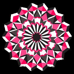 Etiqueta engomada de la insignia de la figura de la flor del mosaico