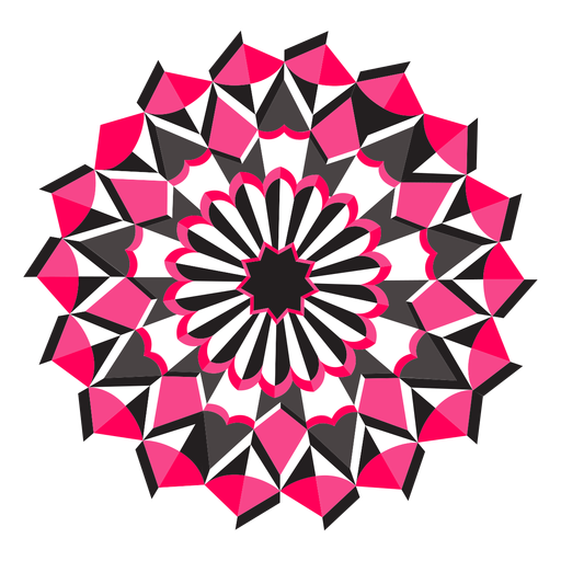 Adesivo de distintivo de figura de flor de mosaico Transparent PNG